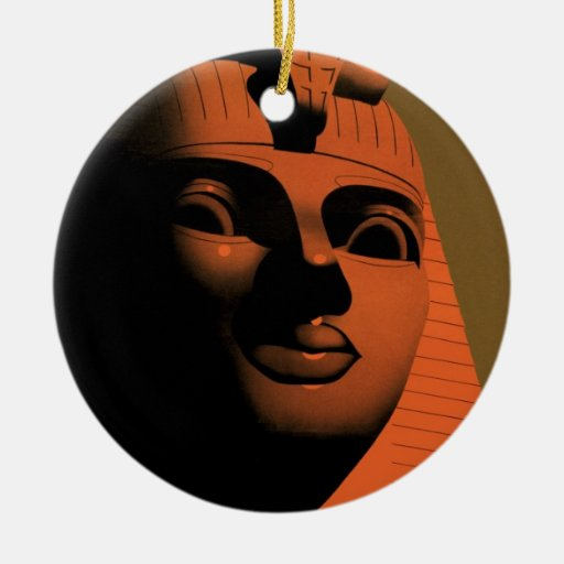 Vintage Travel Poster, Egypt, Africa with Sphinx Christmas Ornament