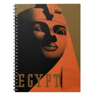 Vintage Travel Poster, Egypt, Africa with Sphinx Spiral Notebook