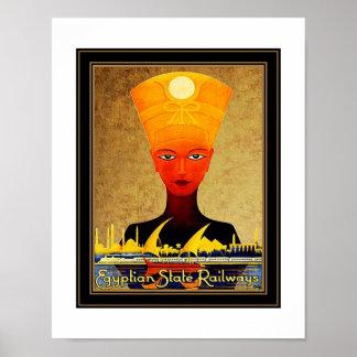 Vintage Travel Poster Egyptian State Railways