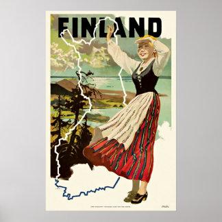 Vintage Travel Poster Finland