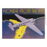 Vintage Travel Poster, Florida from Air Airplane