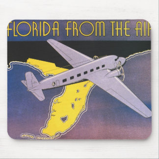 Vintage Travel Poster, Florida from Air Airplane Mouse Pad