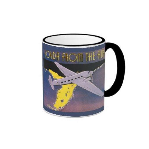 Vintage Travel Poster, Florida from Air Airplane Mug