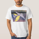 Vintage Travel Poster, Florida from Air Airplane T-Shirt