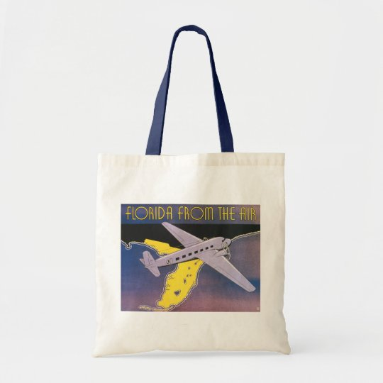Vintage Travel Poster, Florida from Air Airplane Tote Bag