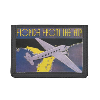 Vintage Travel Poster, Florida from Air Airplane Trifold Wallet