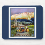 Vintage Travel Poster For Abrvzzo Italy Mousepad