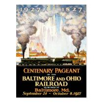 Vintage Travel Poster For Baltimore Railroad Postc Postcard