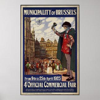 Vintage Travel Poster for Brussels