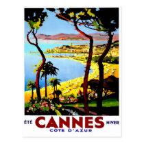 Vintage Travel Poster For France Postcard