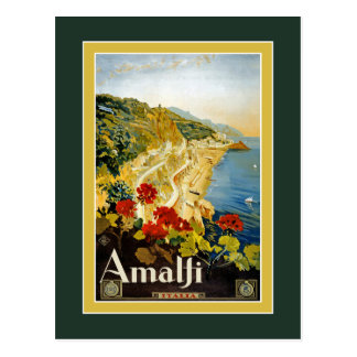 Vintage Travel Poster For Italy Postcard