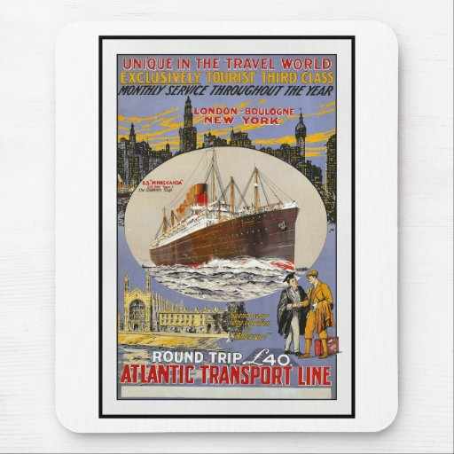 Vintage Travel Poster For New York Mousepad