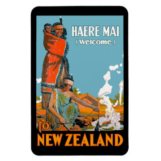 Vintage Travel Poster for New Zealand Magnet
