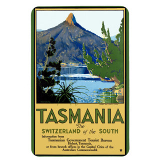 Vintage Travel Poster for Tasmania Magnet