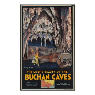 Vintage Travel Poster for the Buchan Caves