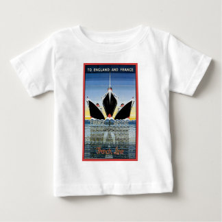 Vintage Travel Poster: French Line Baby T-Shirt