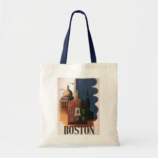 Vintage Travel Poster from Boston, Massachusetts Tote Bag