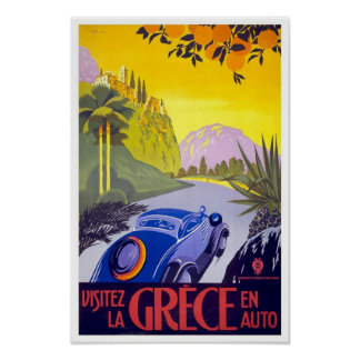 Vintage Travel Poster Greece
