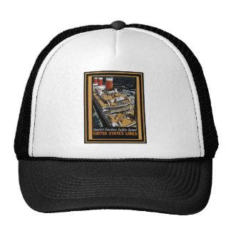 Vintage Travel Poster Trucker Hat