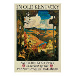 Vintage Travel Poster, In Old Kentucky, NC Wyeth