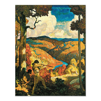 Vintage Travel Poster, In Old Kentucky, NC Wyeth 4.25x5.5 Paper Invitation Card