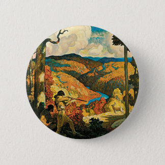 Vintage Travel Poster, In Old Kentucky, NC Wyeth Button