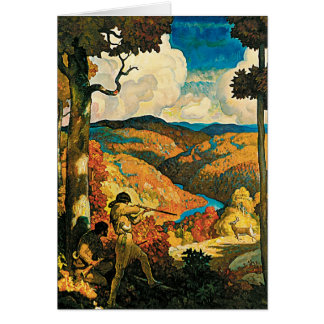 Vintage Travel Poster, In Old Kentucky, NC Wyeth Greeting Card
