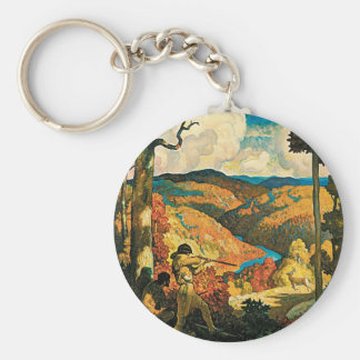 Vintage Travel Poster, In Old Kentucky, NC Wyeth Keychain