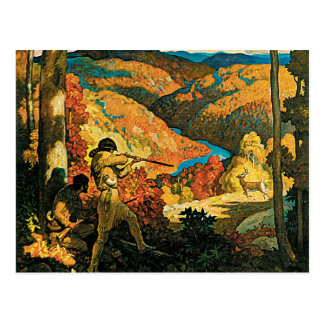 Vintage Travel Poster, In Old Kentucky, NC Wyeth Postcard
