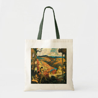 Vintage Travel Poster, In Old Kentucky, NC Wyeth Tote Bag
