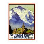 Vintage Travel Poster,Interlaken Post Cards