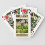 Vintage Travel Poster Ireland Blarney Castle Bicycle Playing Cards