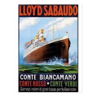 Vintage Travel Poster: Italian Ocean Liner Postcard