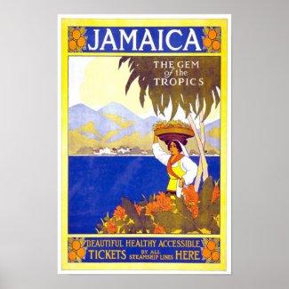 Vintage Travel Poster Jamaica print