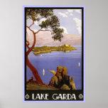 Vintage Travel Poster Lake Garda Italy