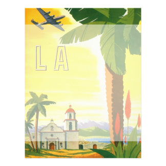 "Vintage Travel Poster, Los Angeles, California 8.5"" X 11"" Flyer"