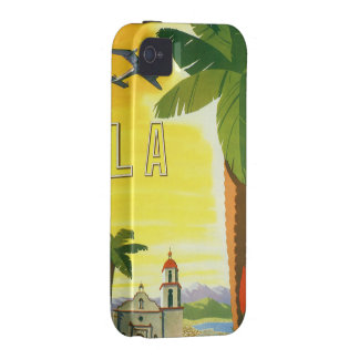 Vintage Travel Poster Los Angeles California Vibe iPhone 4 Covers