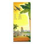 Vintage Travel Poster, Los Angeles, California 4x9.25 Paper Invitation Card