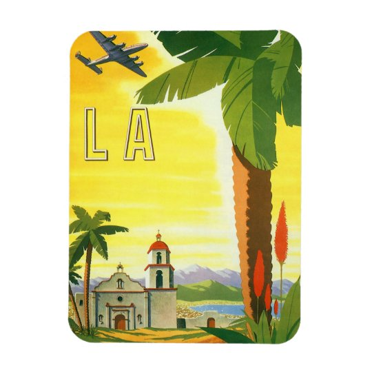 Vintage Travel Poster, Los Angeles, California Magnet