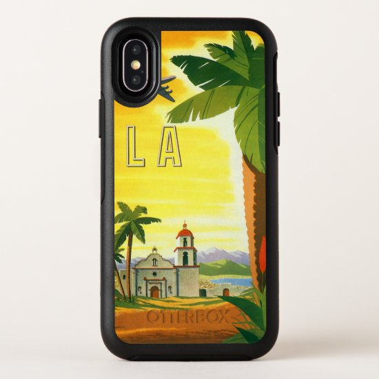 Vintage Travel Poster, Los Angeles, California OtterBox Symmetry iPhone X Case