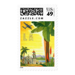 Vintage Travel Poster, Los Angeles, California Stamps
