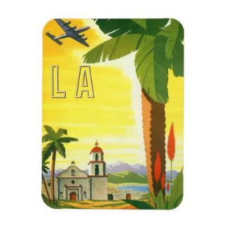 Vintage Travel Poster, Los Angeles, California Rectangular Photo Magnet