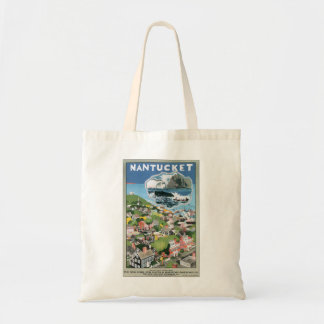 Vintage Travel Poster, Map of Nantucket Island, MA Tote Bag