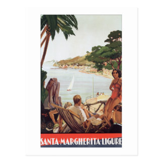 Vintage Travel Poster Margherita Ligure Italy Postcard
