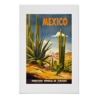 Vintage Travel Poster Mexico Print