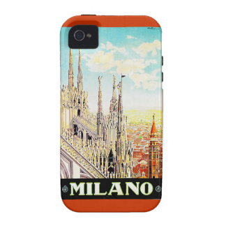 Vintage Travel Poster Milano, Italy Vibe iPhone 4 Case