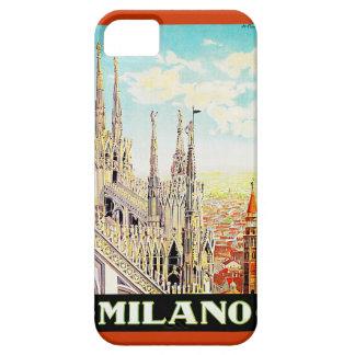 Vintage Travel Poster Milano, Italy iPhone 5 Cases
