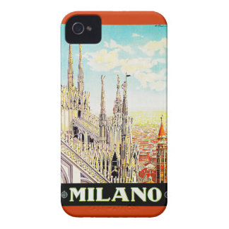 Vintage Travel Poster Milano, Italy Case-Mate iPhone 4 Cases