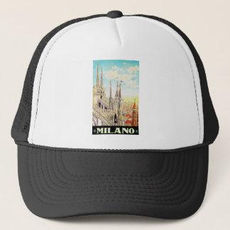 Vintage Travel Poster Milano, Italy Trucker Hat