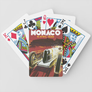 Vintage Travel Poster, Monaco Grand Prix Auto Race Bicycle Playing Cards